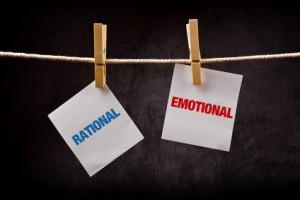 Rational vs Emotional concept.